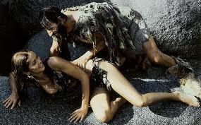 Ringo Starr and Barbara Bach in Caveman