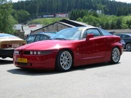 An Alfa Romeo SZ Zagato