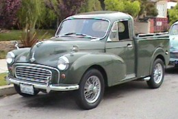 A Pick-up version of the Morris Minor - a public domain image