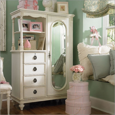 Emmas Treasures Mirror Door Chest - nicely put together design and decor