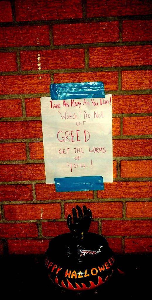 The Candy Bowl and Greed Warning Sign!