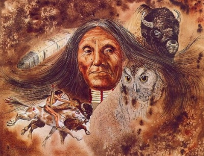 The vision quest took many forms in the various First Nations, but the ends were the same, to have a vision that is an epiphany to the person, the society and even the whole world.