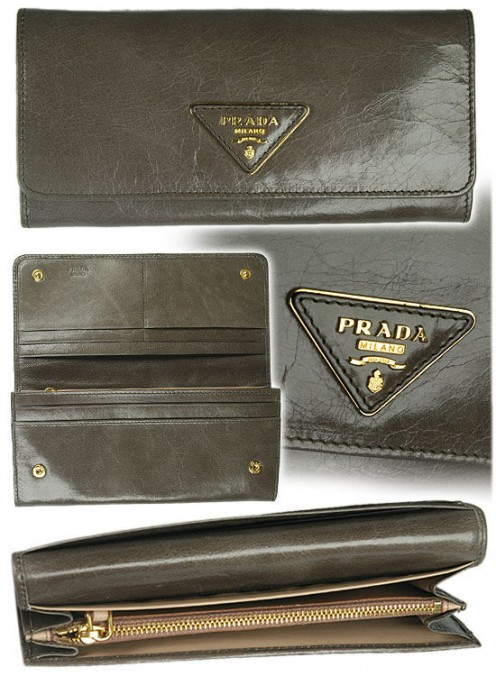 An authentic Prada wallet (2010 collection) from the Raffaello Network). See the ad below to visit their website.