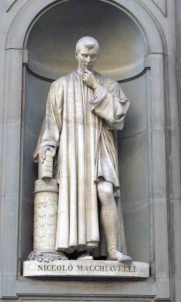 """Niccolo Machiavelli (1769-1527) was a fearful man who wrote in his work """"The Prince"""" that rulers must maintain their kingdoms at all cost, even if it meant that he must act immorally."""