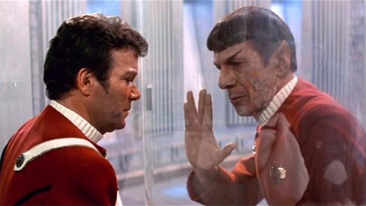 William Shatner and Lenord Nimoy in Star Trek II: The Wrath of Khan