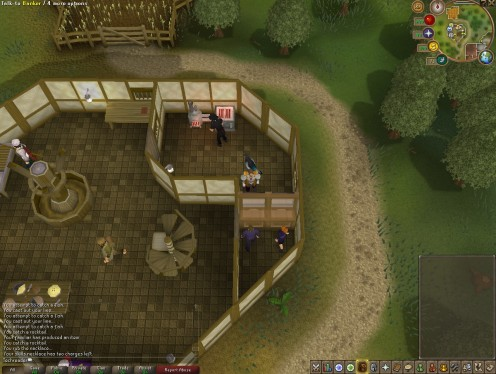 The tiny room with bank and range.  You can only enter if you've done Varrock Achievements.
