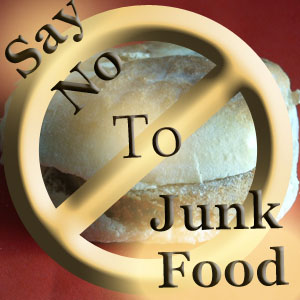 say no to junkfood