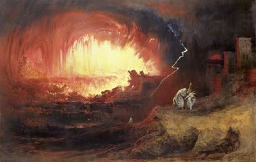 Destruction of Sodom and Gomorrah. (Not for the reason many believe.) Homosexuals tell their own version.