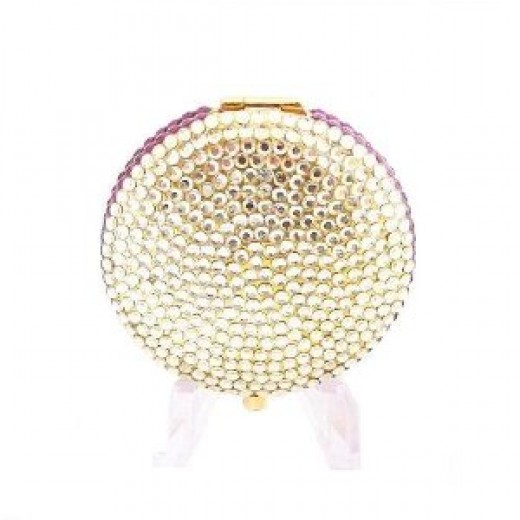 Golden Halo Yellow Amethyst Crystal Compact