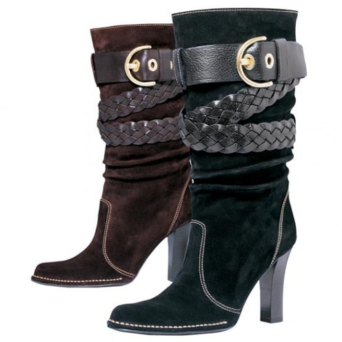 Coach  Strappy Suede Boots