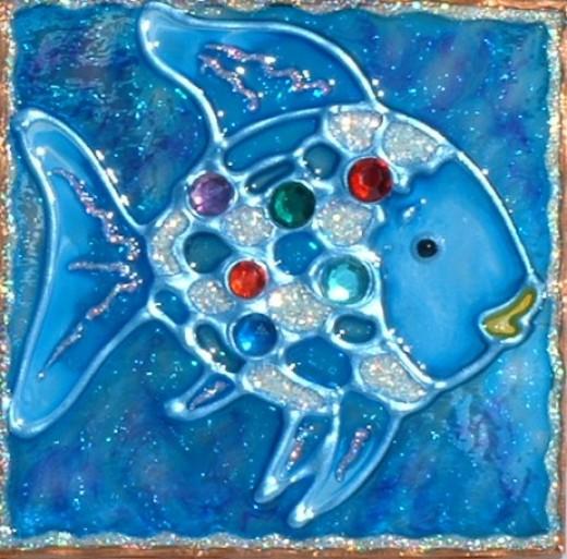 beautiful blue fish night light by luminabella USA