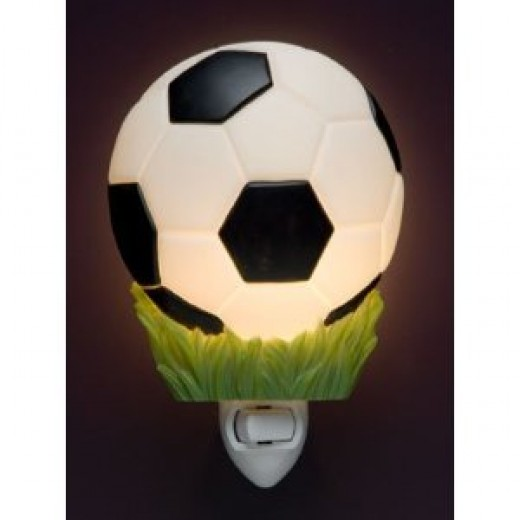 Soccer ball lighted for a sports themed night light gift