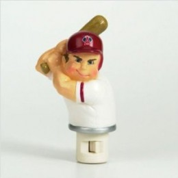 Product Description 26818 Team: Philadelphia Phillies Pictured in Angels Features: -Night Light Player. -Dressed in official MLB team colors. -Features official Washington Nationals logo and colors. -Makes a great gift for anyone. -Features a string