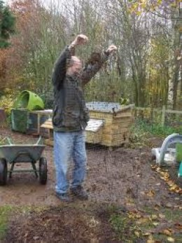 Mesh helps keep rats out of worm beds