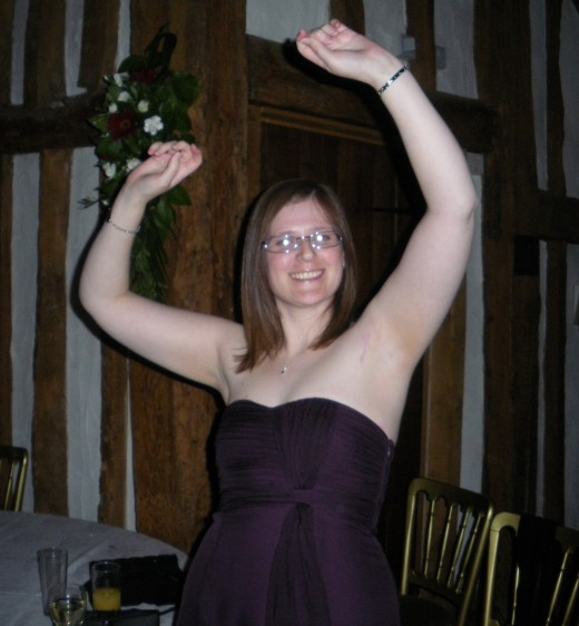 Me having fun at a wedding.