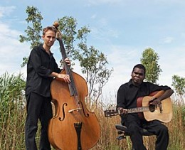 Gurrumul with his friend Micheal Hohnen.