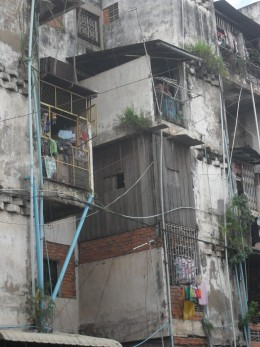 SLUM: where many prostitutes live and work