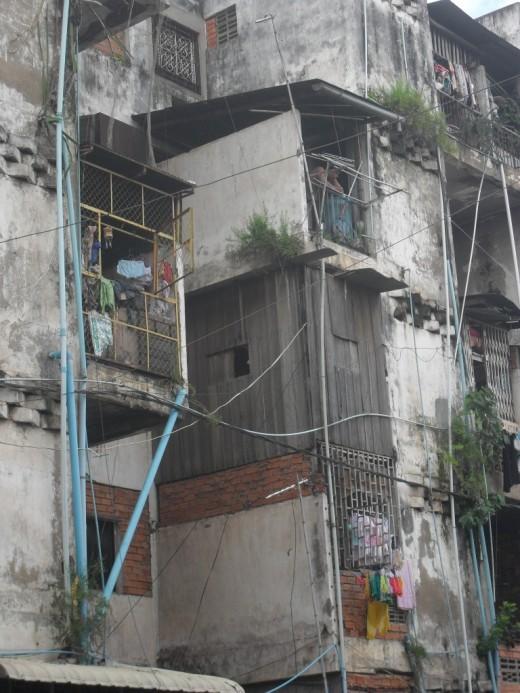 SLUM: where many prostitutes live and work