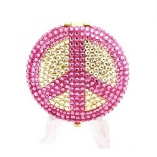 Peace Sign Estee Lauder Crystal Lucidity Powder Compact