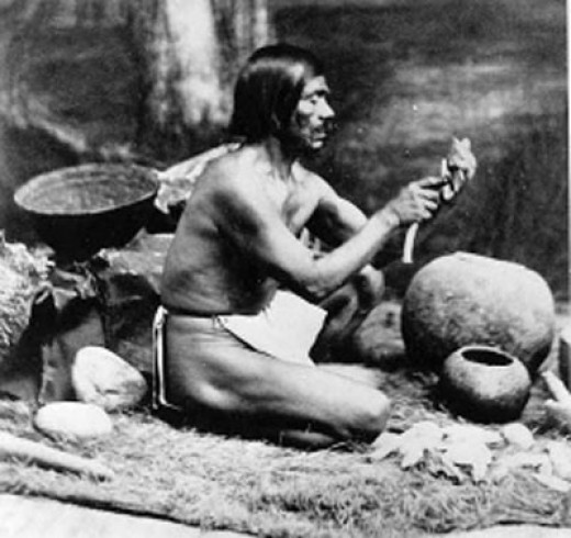 A Samala chief, in the Santa Ynez Valley.   Photograph taken by Leon de Cessac in the late 19th century.