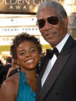 Morgan Freeman with his Step-Grandaughter