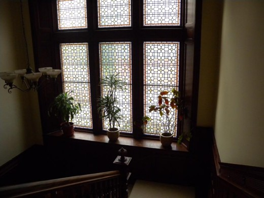 Stain glass throughout - what is a Victorian without it?