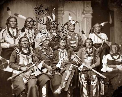 Native American Chiefs at the end of the Civil War, 1865.