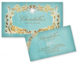 Beauty Business Card, elegant and stylish, great for any beauty professional makeup artist or jewelry maker.