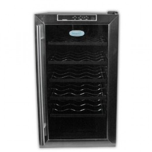 NewAir AW-181E 18 Bottle Wine Cooler With Digital Temperature Readout