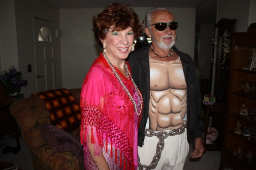 My Mother Glenda Rucks and Lester White, RIP... Going to Halloween Party at Madonna's San Luis Obispo, California !