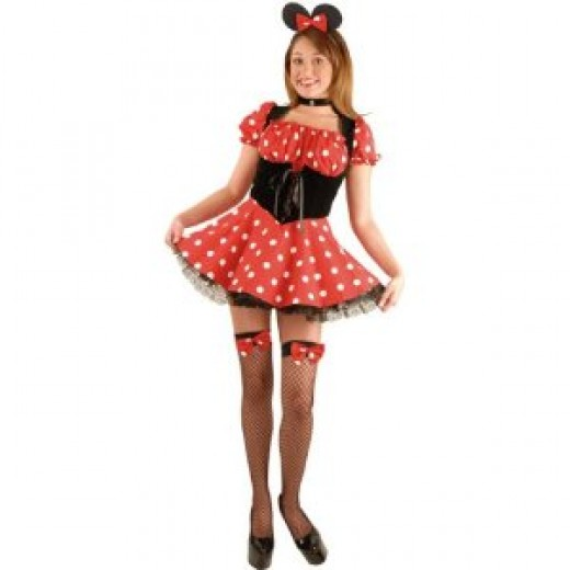 Adult Sexy Minnie Mouse Costume (Size:Large ...