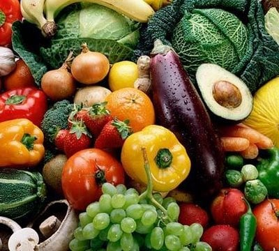 Eat plenty of fruit and vegetables
