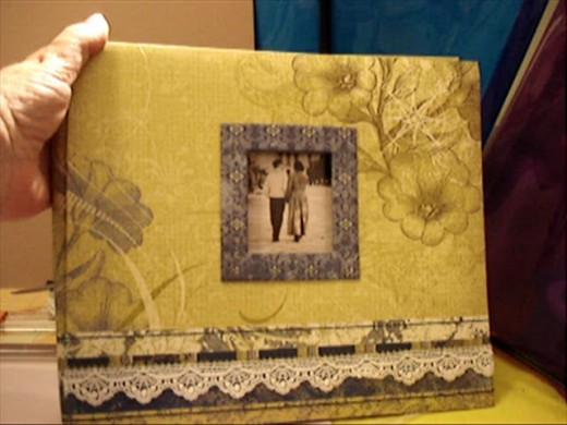 Front Cover of Scrapbook Album