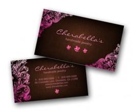 Beauty business cards modern stylish makeup artist template