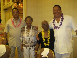 My mother and her sister and their other twin kin. The Florida Reunion