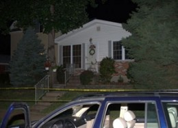 These pictures were taken on the night of the murder. Walsh was still seated in the drivers side of his vehicle, outside his home, when he was shot.
