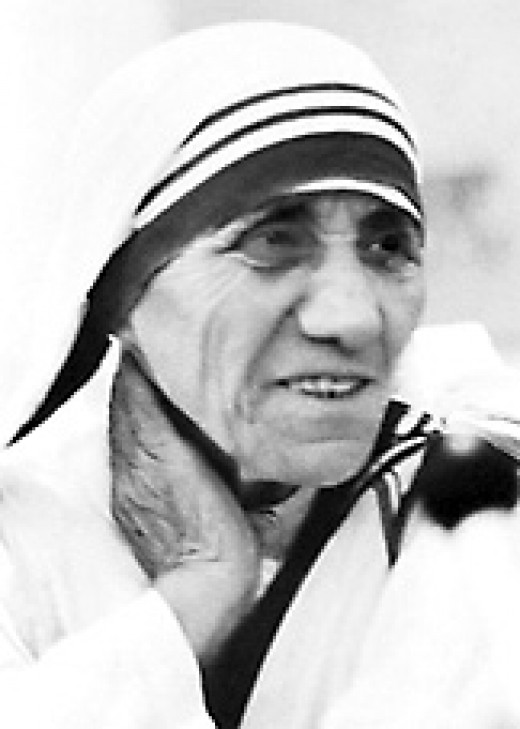 Mother Teresa, a Catholic nun: humanitarian and advocate for the poor and helpless