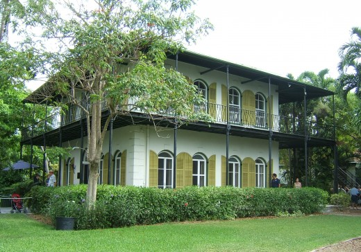 The Ernest Hemingway Home In Key West Florida. It is said that Ernest Hemingway was the most happy ever in Key West.