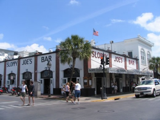 Sloppy Joes Bar In Key West was another place Hemingway loved to visit. While in Key West Hemingway did basically three things write , fish , and drink. And Sloppy Joes was where he went to drink.