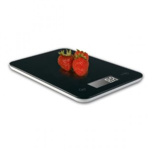 Ozeri Touch II Professional Digital Kitchen Scale, in Elegant Tempered Glass with Reflective Black Surface