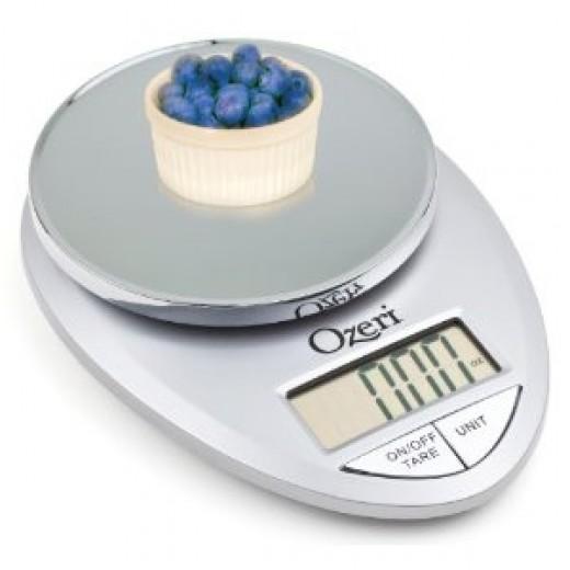 Ozeri Pro Digital Kitchen Food Scale, 1g to 11 lbs Capacity, Elegant Chrome