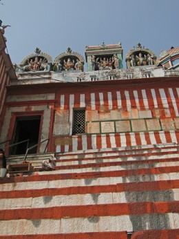 Steps leading up to Shiva Temple, Kedara Ghat Varanasi, India