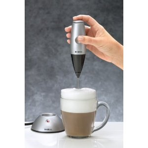 BonJour Primo Latte Frother, Rechargeable Includes Electric Base