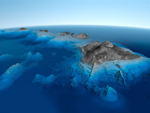 The Hawaiian Islands stretch from the main island all the way west to Midway, the oldest of the group.