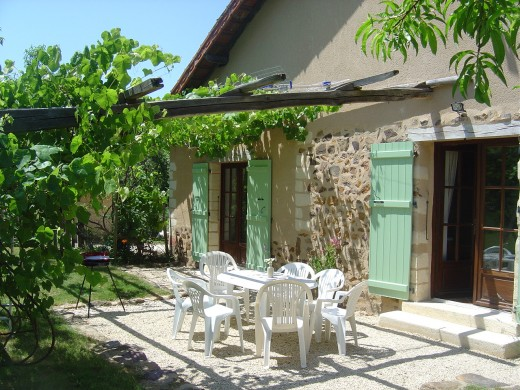 Our gite has three en-suite bedrooms, a spacious open-plan living room, kitchen and dining room with a large, enclosed private garden. It sleeps 7 adults comfortably.