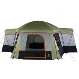 Swiss Gear Montreaux Ten Person Family Dome Tent (Sage/Light Grey/Orange)
