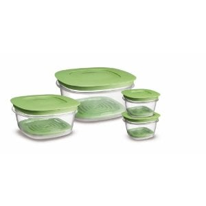Rubbermaid 7J93 Produce Saver Square 8-Piece Set Food Storage Containers