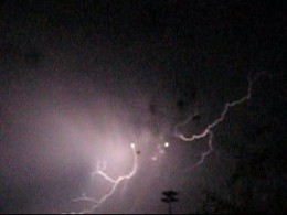Mother Nature Contributed some fiery lightning