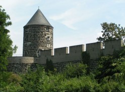 Medieval Wall and tower in Cologne, Germany