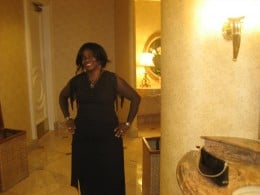 Picture taken in the ladies lounge of the Beverly Hills Hotel, Beverly Hills, California